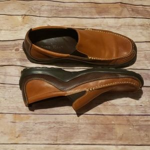 Cole Hann brown slip on loafers